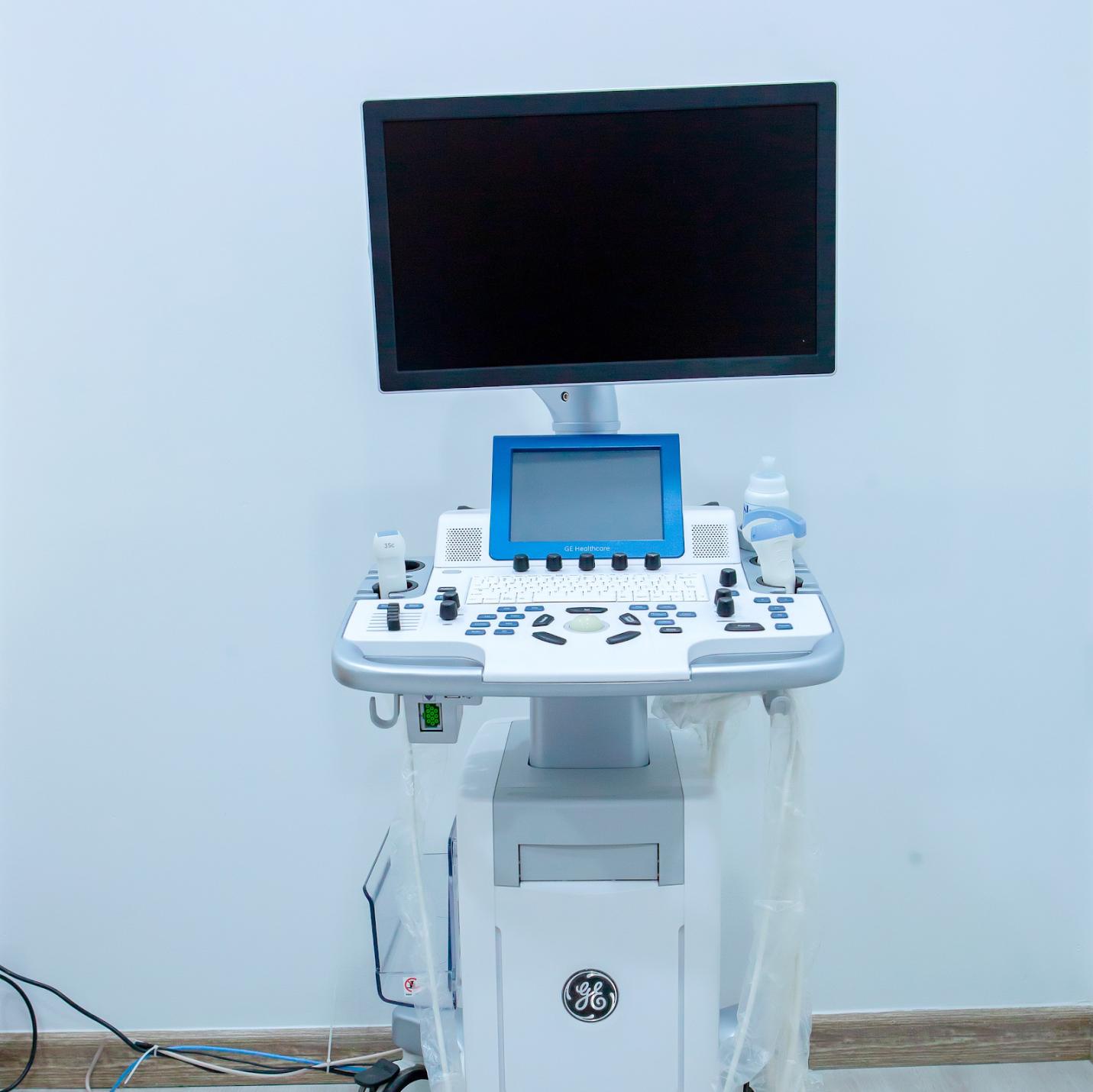 Kết quả hiển thị ở màn hình thiết bị siêu âm